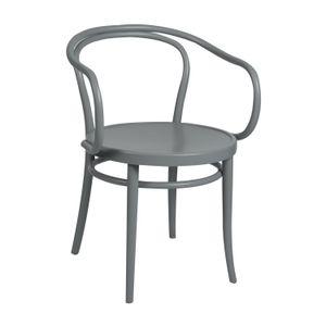 Chaise n° 30, hêtre, laqué gris, assise en bois
