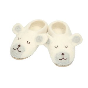 Chaussons, ours polaire, feutrine, 24/25