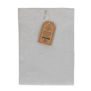 Chemin de table, coton bio, gris chiné, 50 x 150 cm