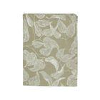 Chemin de table, coton bio, vert à motif de feuillage, 50 x 150 cm