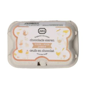 Chocolade eieren, puur praliné, 78 gram