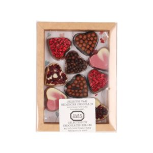 Chocolade hartjes, 10 stuks, 170 gram