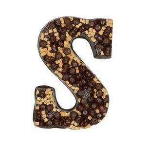 Chocoladeletter, puur, pepernoten/fudge/carameldrops/meringue, 210 gram