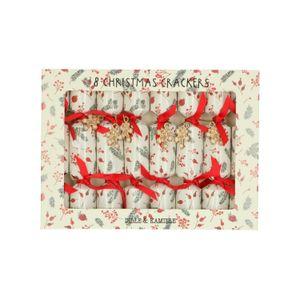 Christmas crackers, baies & brindilles, lot de 8, petit