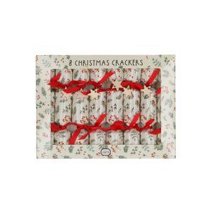 Christmas Crackers Mini, Zweige und Beeren, 8 Stück
