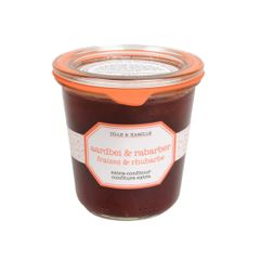 Confiture extra, fraises & rhubarbe, 320 g