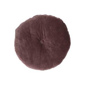 Coussin en velours, coton biologique, violet, rond