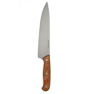 Couteau de chef, manche en bois de hêtre, 33 cm