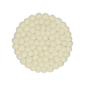 Dessous de plat, blanc cassé, feutrine, Ø 22 cm
