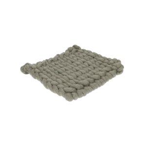 Dessous de plat, laine, gris foncé