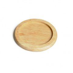 Dessous de verre, bois d'hévéa, Ø 9,5 cm
