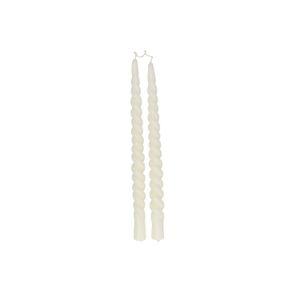 Dinerkaars gedraaid, off-white, set van 2, 29 cm