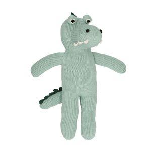 Doudou crocodile, tricot, 0+