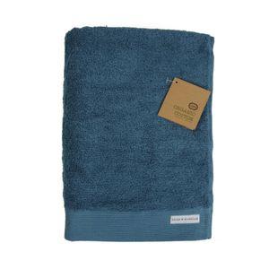 Drap de bain, coton bio, bleu-gris, 70 x 140 cm