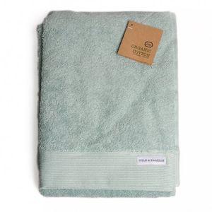 Drap de bain, coton bio, vert céladon, 70 x 140 cm