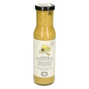 Dressing, biologisch, mosterd & citroen, 250 ml