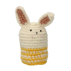 Eierwarmer konijn, wol, geel