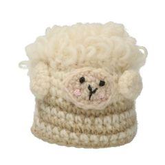 Eierwarmer schaap, wol, groen