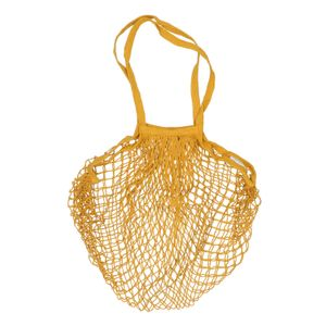 Einkaufsnetz, Baumwolle, ockergelb, 35 x 35 cm