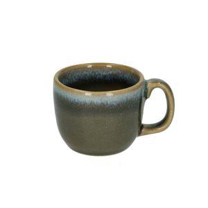 Espressokop reactieve glazuur, steengoed, blauw