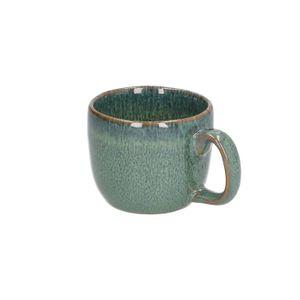 Espressokop reactieve glazuur, steengoed, groen