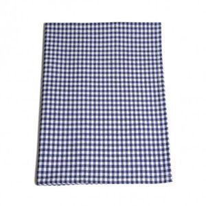 Essuie de vaisselle, coton, bleu/blanc, vichy, 50 x 70 cm