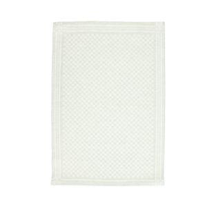 Essuie de vaisselle/essuie-verres, lin & coton, à carreaux verts et blancs