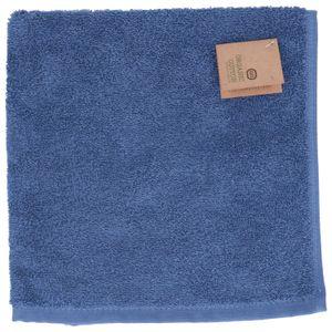 Essuie-mains, coton bio, bleu denim, 50 x 50 cm