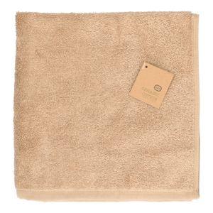 Essuie-mains, coton bio, couleur sable