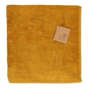 Essuie-mains, coton bio, ocre jaune