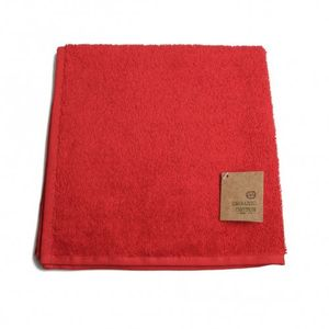 Essuie-mains, coton bio, rouge, 50 x 50 cm