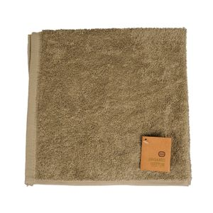 Essuie-mains, coton bio, vert olive, 50 x 50 cm