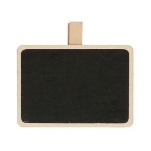 Etiket krijtbordje met knijper, vurenhout