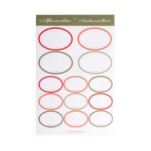 Étiquettes autocollantes ovales, 13 pcs
