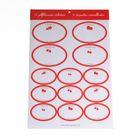 Etiquettes, blanc, dessin de fruits rouges, 13 pcs