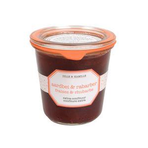 Extra-confituur, aardbei & rabarber, 320 gram