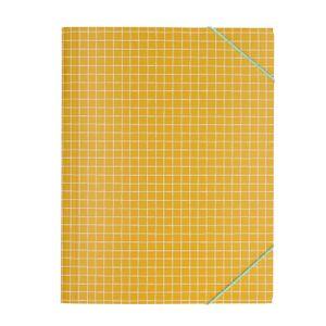 Farde, ocre jaune quadrillé, A4