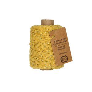 Fil lurex, coton, jaune, 50 m
