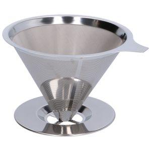 Filtre à café réutilisable, RVS, pour 2-4 tasses
