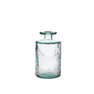 Fles met reliëf, gerecycled glas, 600 ml