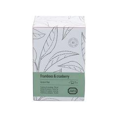 Framboos & cranberry, Groene thee, 15 theebuiltjes