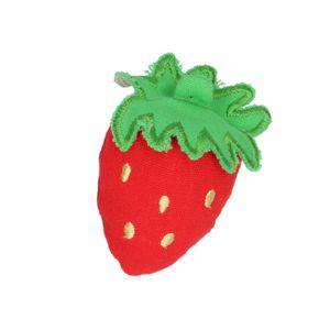 Fruit en tissu, fraise, 6,5 cm, à partir de 3 ans