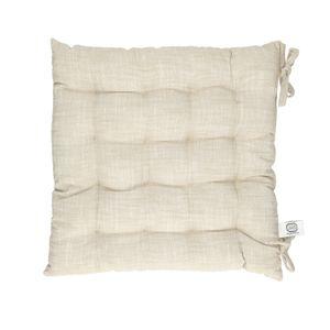 Galette de chaise, coton bio, gris sable chiné, 40 x 40 cm