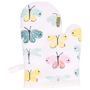 Gant de cuisine enfant, coton, papillons