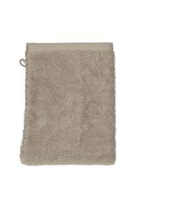 Gant de toilette, coton bio, taupe clair