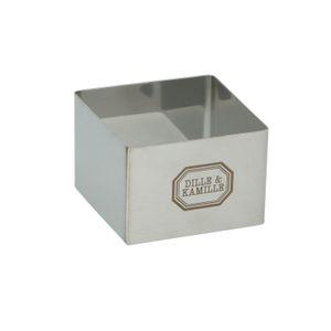 Garnier-Ring, rostfreier Stahl, 6 x 6 cm