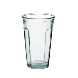 Glas met facetten, gerecycled glas, 300 ml