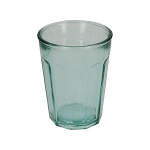 Glas met facetten, gerecycled glas, 400 ml