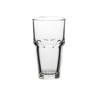 Glas mit Facetten, hitzebeständig, 350 ml