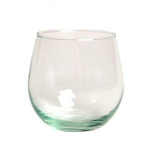 Glas rond, groot, gerecycled glas